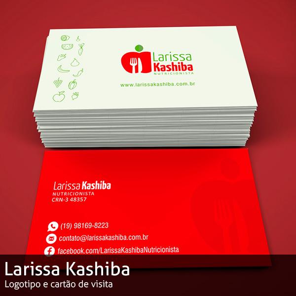 Cartão de Visita Larissa Kashiba Nutricionista