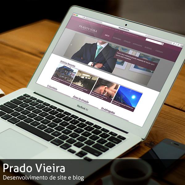 Site Prado Vieira Sociedade de Advogados